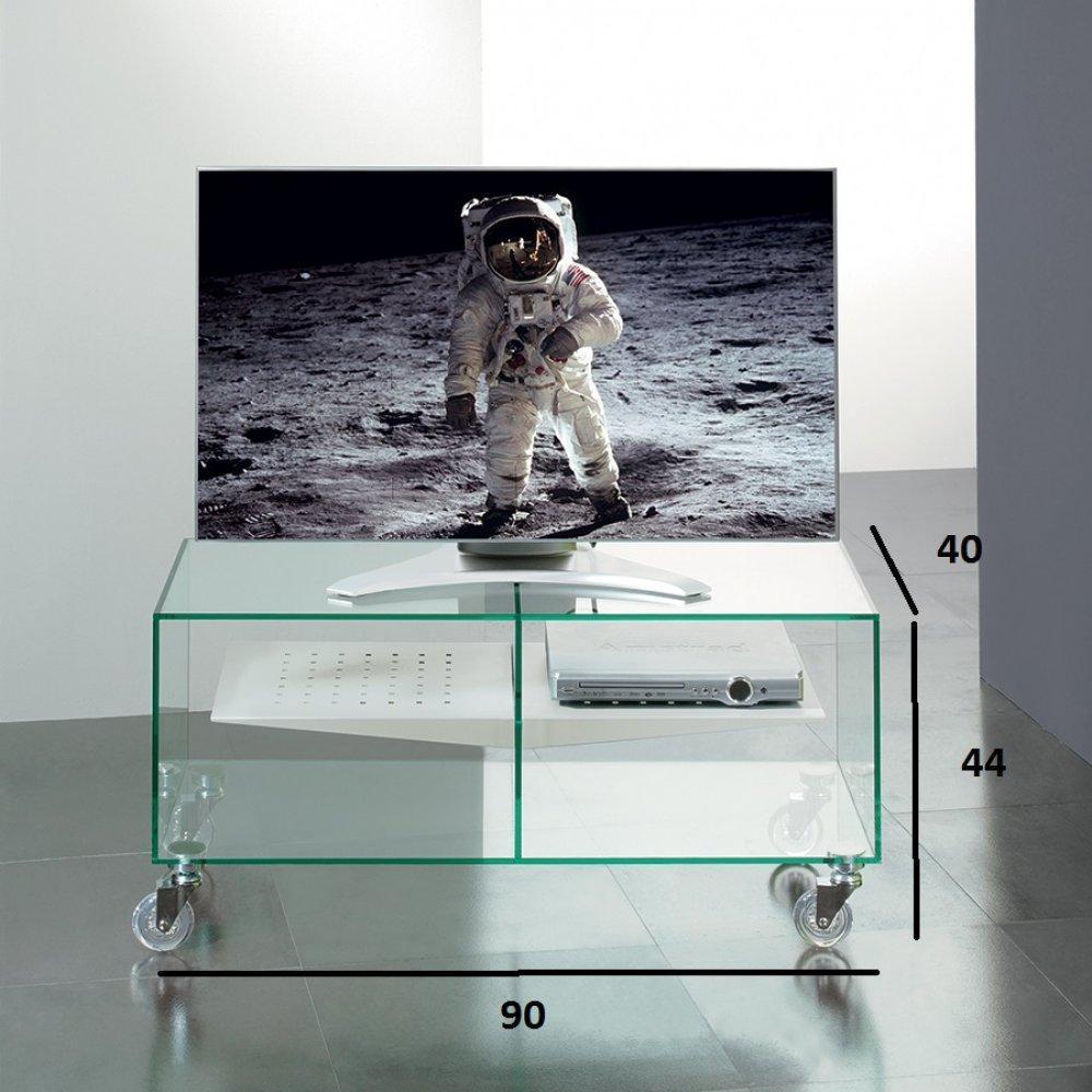 meuble tv malta en verre etagere centrale blanche