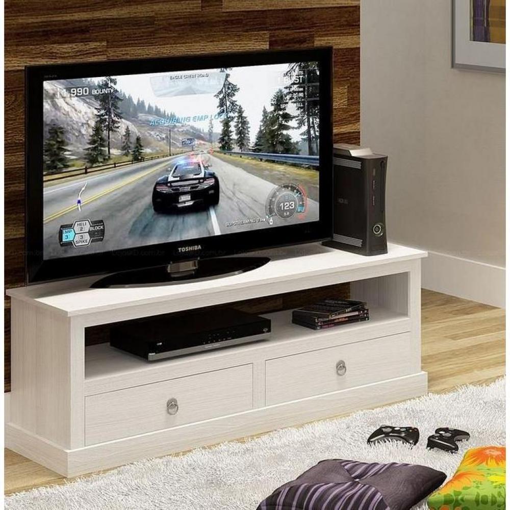 meuble tv provence blanc en pin massif