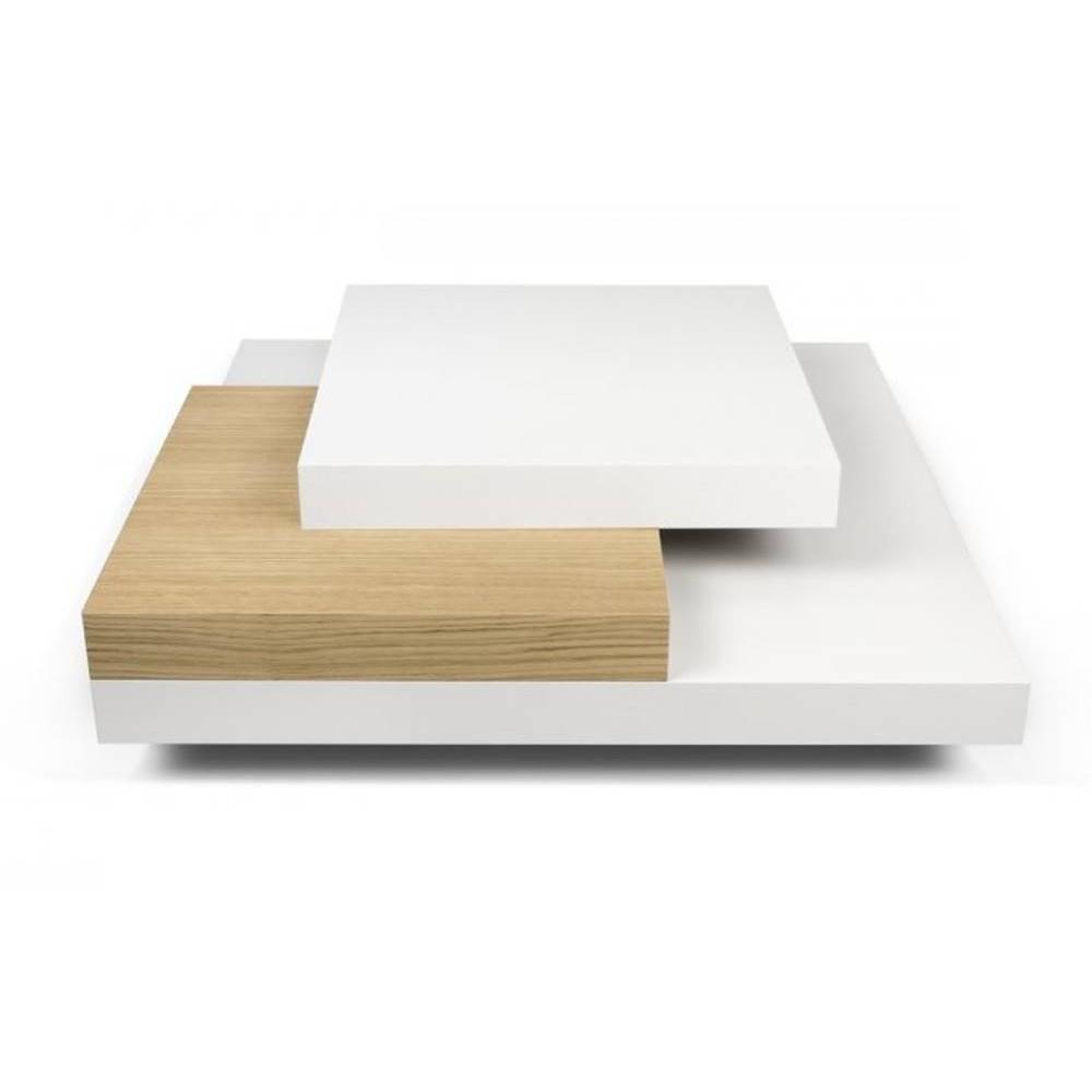slate table basse blanche et chaªne