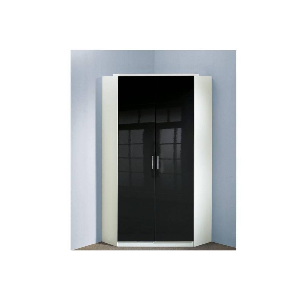 Armoire 2 Portes Noire Maison Design
