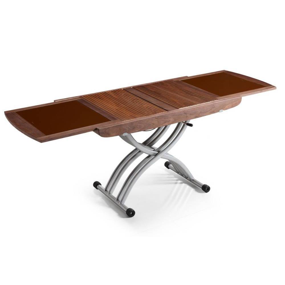 Table Relevable En Verre Maison Design