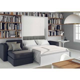 armoire lit a ouverture assistee traccia canape integre et meridienne gauche