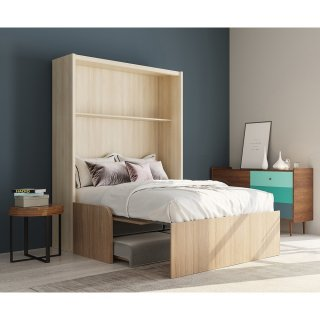 space sofa armoire lit escamotable 140cm canape integre