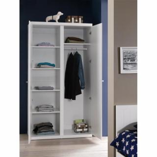 armoire penderie hydrus 2 portes blanche