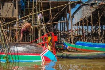Stilt village in Tonle Sap