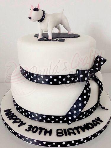 Bull Terrier Shaped Birthday Cake Muses Inside Dogs World