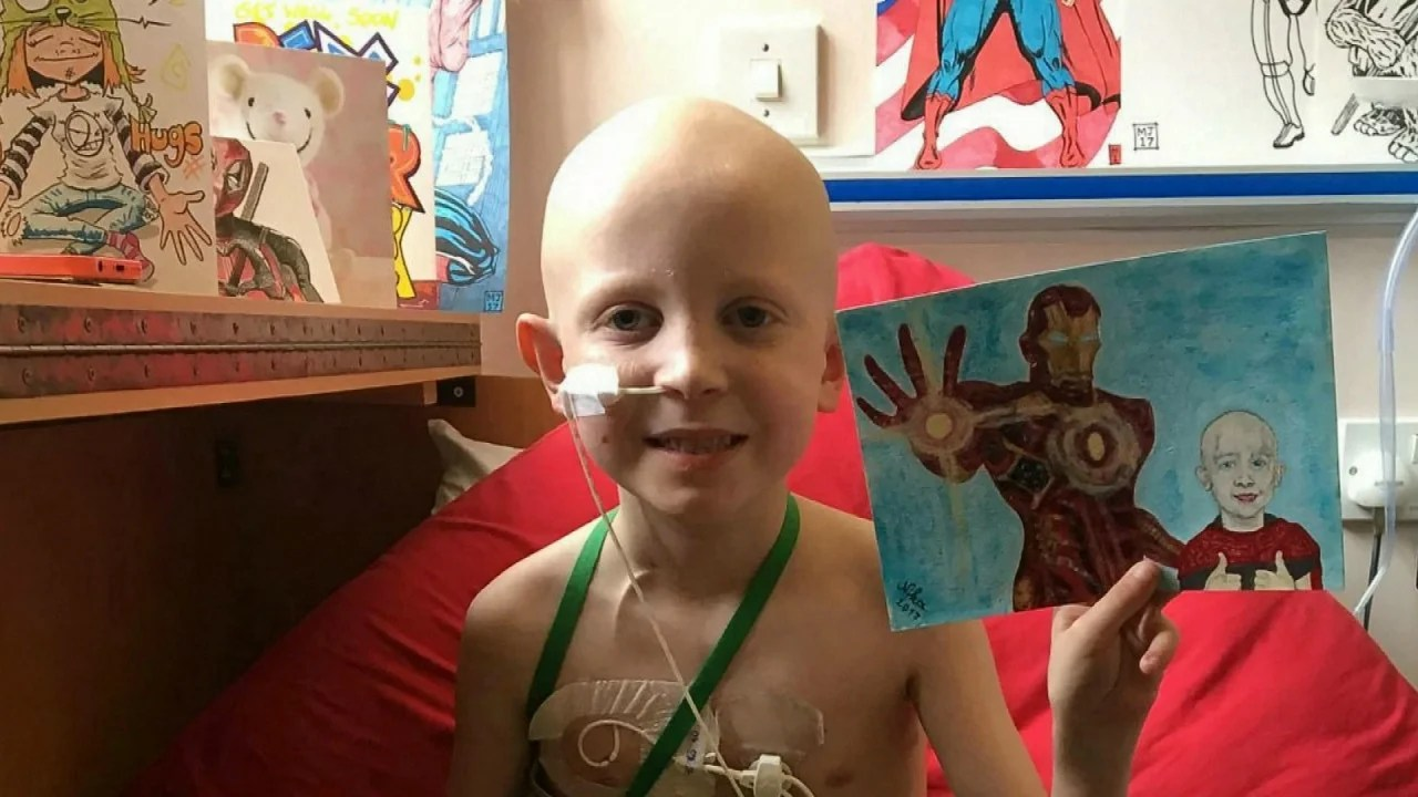 7 Year Old Boy With Cancer Gets Superhero Art From Strangers Around The World Inside Edition