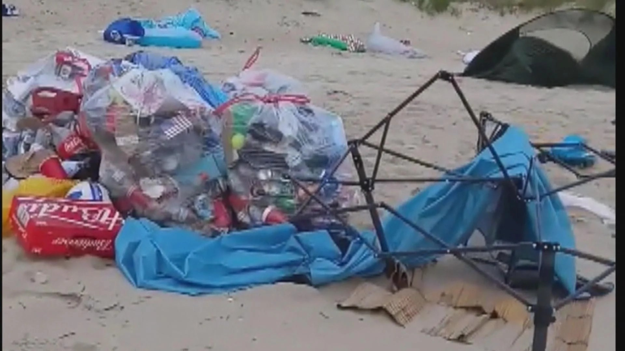 10 Tons Of Trash Left On Virginia Beach Following