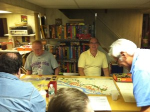 Dr. Harvey Mossman and the gang at the Wednesday Night Gaming Group