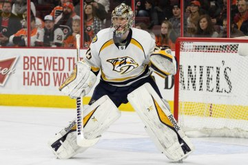 Goalie Pekka Rinne (#35) of the Nashville Predators