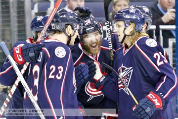 David Savard (CBJ - 58) celebrates his second goal of the game.
