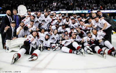 The 2016 AHL Calder Cup Champions, the Lake Erie Monsters.