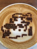 Mario-themed Latte