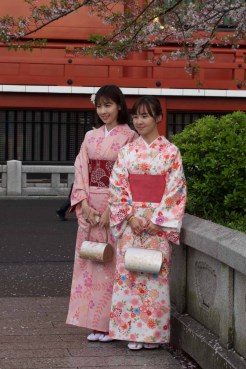 Young people in traditional dress at Asakusa