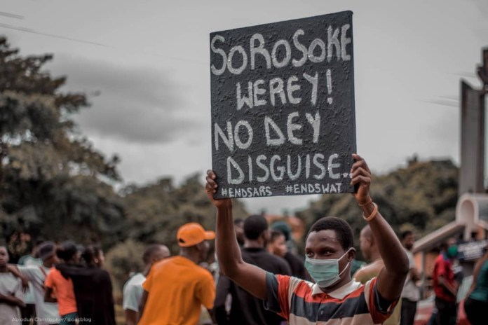 Photos from OAU #EndSARS Protest