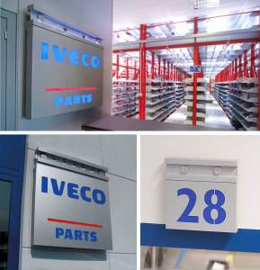 IVECO - PREMISES Branding System targhe-parts