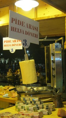 Why not try some helva on a doner stand?