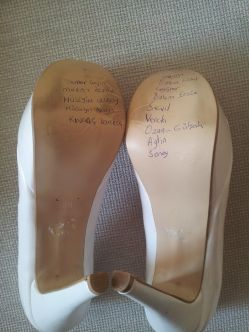 Turkish Wedding shoes - is your name on there?