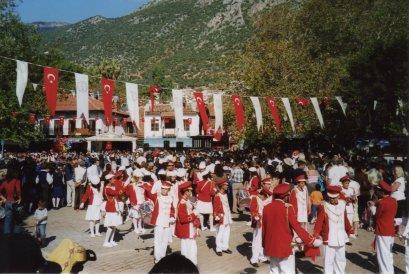 Celebrating Republic Day in Kas, 1996