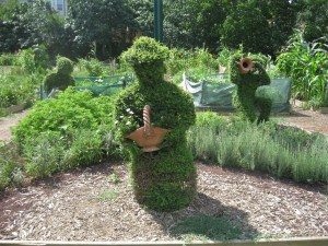 Check out the charming topiary in Kuzguncuk gardens.