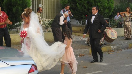 A bride in my street in Istanbul.