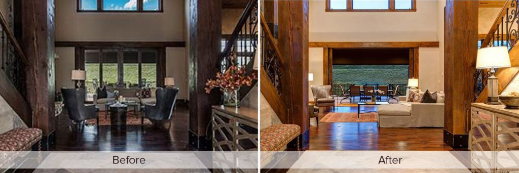 Park City Home Staging Before After