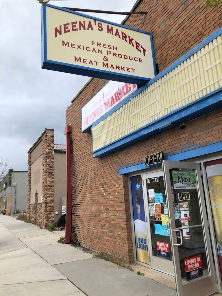 Neena's Market, the local Mexican Grocery Store