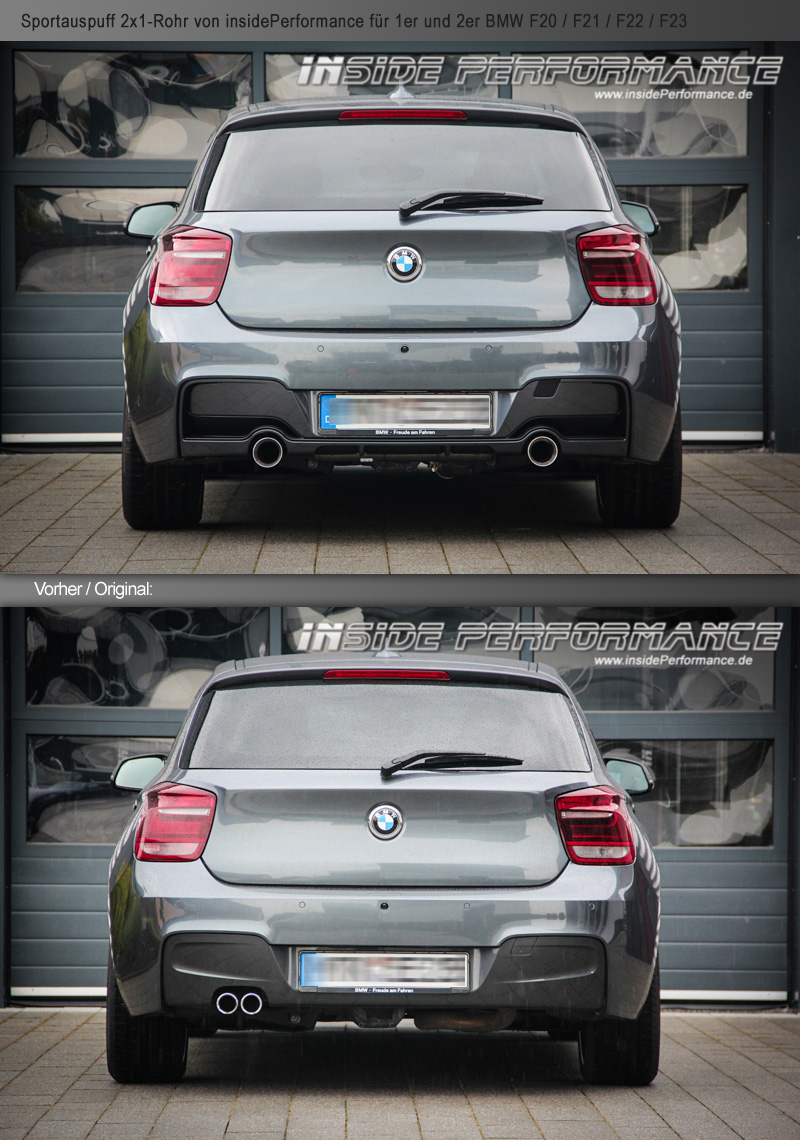 custom exhaust for 1 series bmw f20 f21 2x1 tip opt with valve flap control