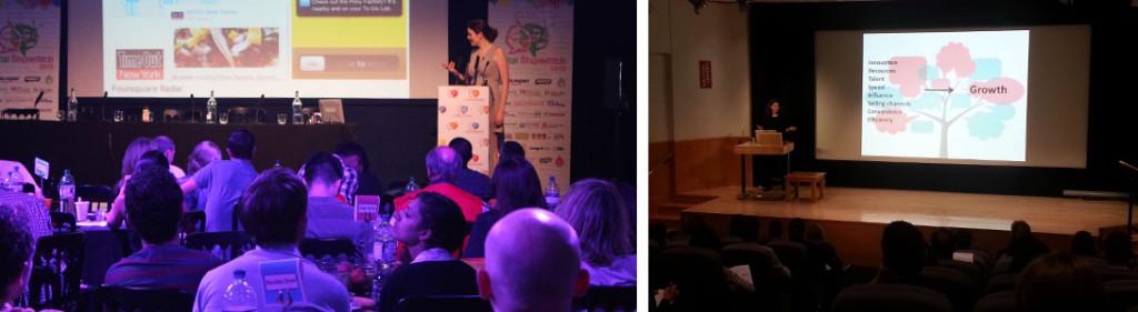 Minorista innovador tendencias y futuro del retail keynote hablando