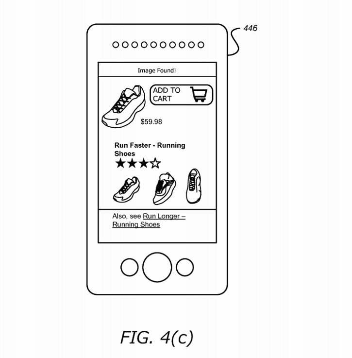 Amazon object recognition retail patent