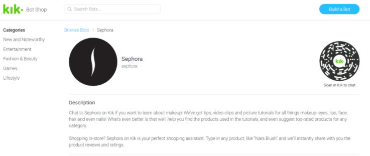 Sephora chatbot-Technology Trends