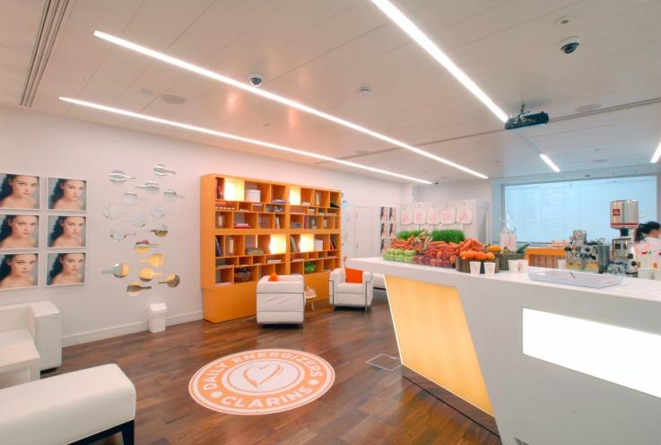 Clarins popup store design