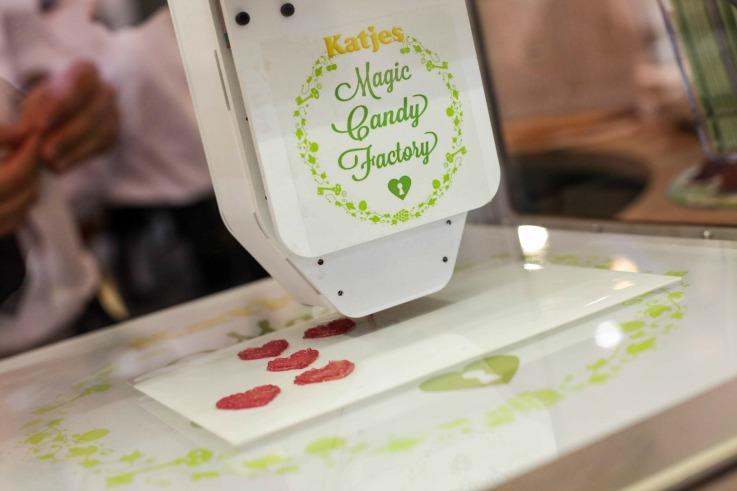 3d food printing Katjes Magic Candy Factory