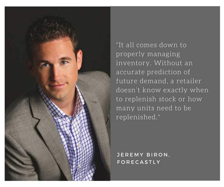 Forecastly - Jeremy Biron quote