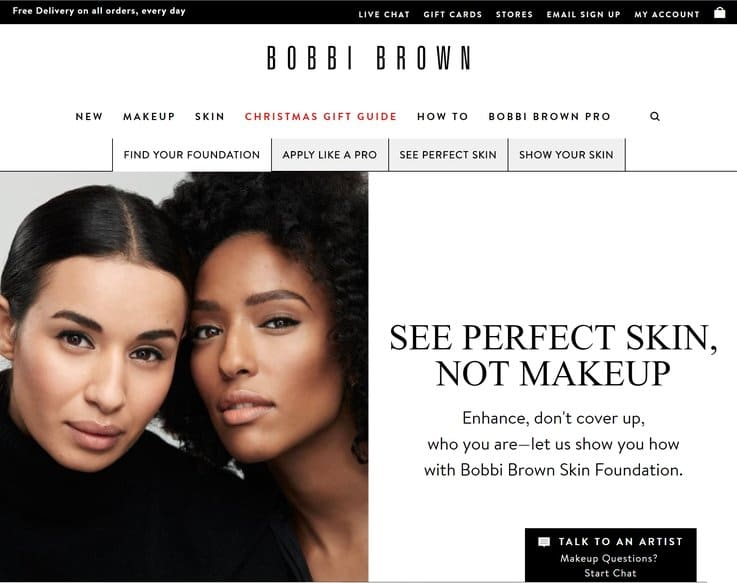 Bobbi Brown ecommerce strategy