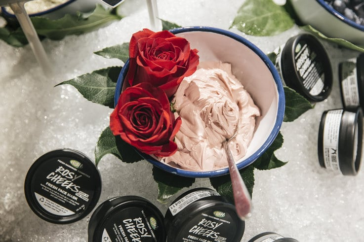 fresh products retail Lush