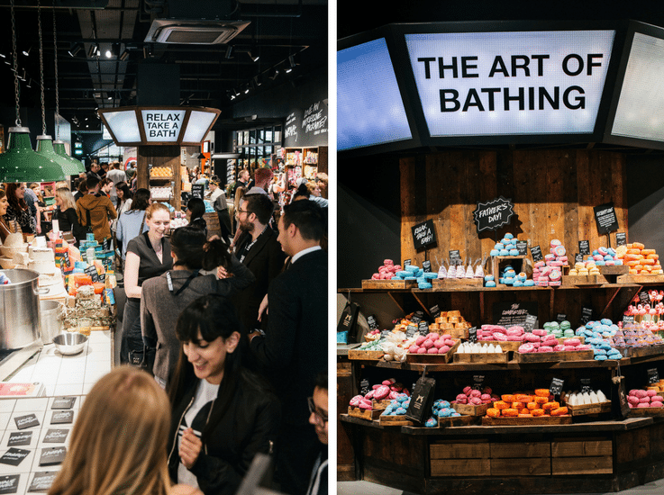 store design cutomer experience Lush
