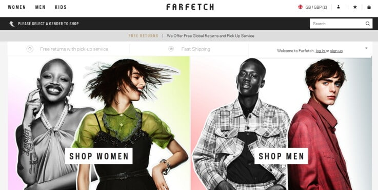 Farfetch - ecommerce marketplaces
