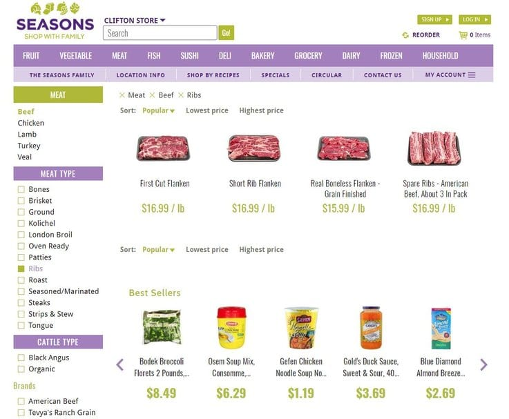 online grocery retail