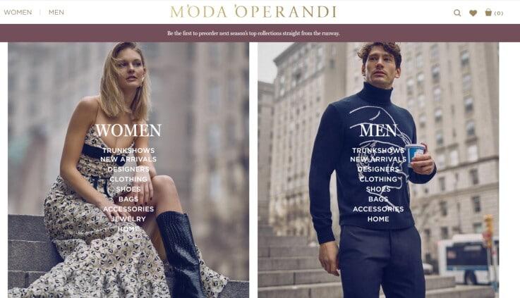 Moda Operandi - Ecommerce Retail