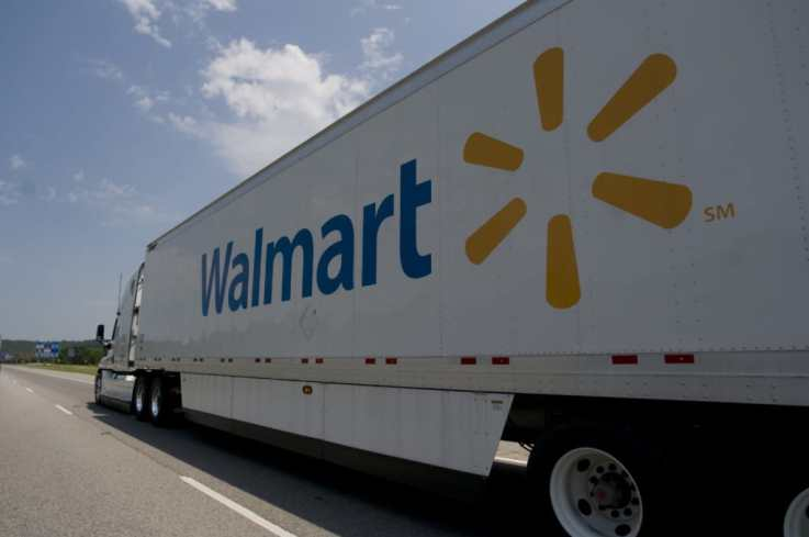 Walmart delivery truck