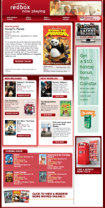 New Redbox Weekly Email Format