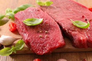 Avoid red meat when you are sick.