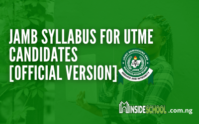 JAMB Syllabus for 2021/2022 UTME Candidates [Official Version]