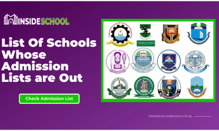 List Of Schools Whose Admission Lists is Out for the 2020/2021 Academic Session