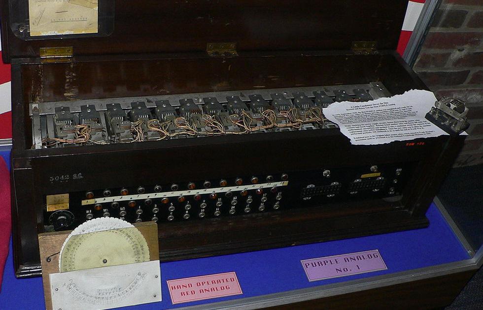 Image of Purple Machine used to decrypt communications prior and during world war II - CyberLoft Magazine - CyberLoft Computer Services Atlanta GA