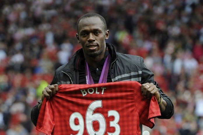 Usain Bolt Manchester United,Manchester United,Jamaican sprinter with Manchester United,Bolt's appointment with football,Bolt's with football