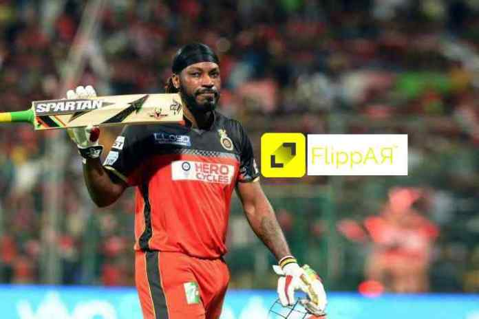 Chris Gayle takes the crease for augmented reality startup FlippAR- InsideSport