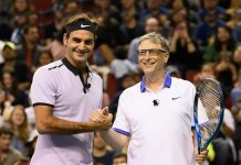 Roger Federer with Bill Gates for a charity tennis match - InsideSport