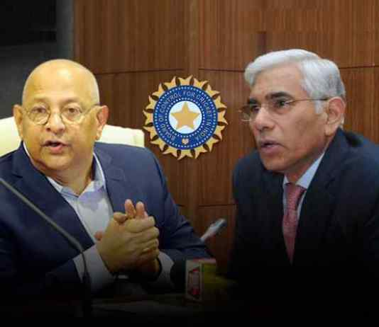 Amitabh Choudhary, BCCI Acting Secretary (left) and Vinod Rai, BCCI CoA Chief (right) - E-auction decision sparks sparring within BCCI - InsideSport